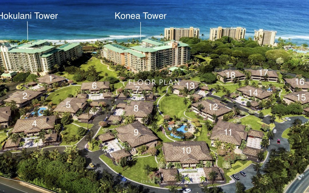 Luana Garden Villas Honua Kai Townhomes for Sale Real Estate Digital Rendering Fly Through